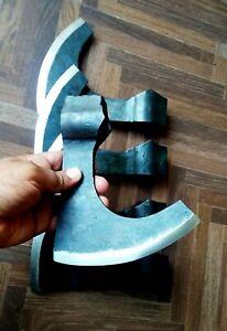 Hand forged viking axe Head Beard High Carbon Steel