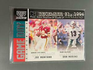 Joe Montana / Dan Marino 2000 Momentum Game Day Kansas City Chiefs Dolphins N25