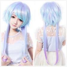 Lady New Long Straight Full Wig Lolita Anime Rainbow Color Cosplay Party Costume