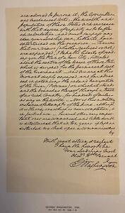 GEORGE WASHINGTON 1793 LETTER TO THE EARL OF BUCHAN - RARE FINE PRESS FACSIMILE