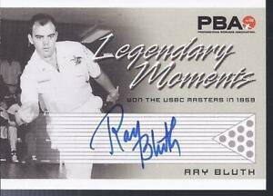 2008 PBA Bowling Autograph Legendary Moments Ray Bluth