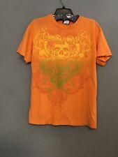 Miami Ink Medium Orange T-Shirt Graphic Short Sleeve Distressed