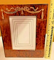 "Vintage Birdseye Maple Burl Wood Picture Frame Decorative Frame, 8 x 10"" Japan"