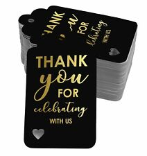 Real Foil Bottle Tag Thank You For Celebrating With Bridal Shower-Baby-SH5_10BG