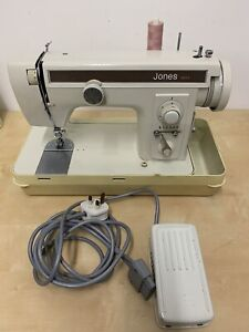 Vintage Jones 451 Upholstery Semi Industrial Heavy Duty Sewing Machine With Case