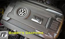 VW Golf Mk7 R-GTI Motor & Caja de Fusible Cubierta con Logotipo Gráfico Calcomanía de Vinilo de calidad