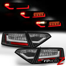 2008-2011 Audi B8 A5 S5 Black [FROSTY LED TUBE] SMD Tail Light Brake ERROR FREE