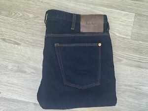 paul smith mens jeans 32W 32L blue slim fit Stretch (758)