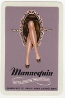 Playing Cards Single Card Old MANNEQUIN STOCKINGS NYLONS Ladies Legs Advertising