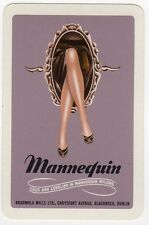 Playing Cards 1 Swap Card Old Vintage MANNEQUIN STOCKINGS NYLONS Ladies Legs AD