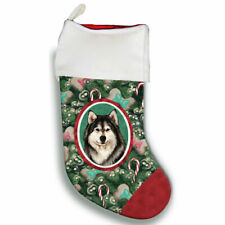 Alaskan Malamute Christmas Stocking