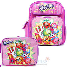 "Shopkins School Backpack Set 12"" Small Backpack with Lunch Bag 2pc Moose"