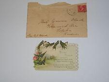 1899 Antique VALENTINE CARD H. M. Burnside Old Vintage Paper Valentines poem