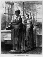 OYSTER BUSINESS NEGRO WOMEN SMOKING PIPE AND FILLING OYSTERS WITH LIQUOR OYSTER