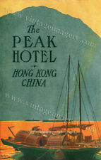 LARGE Dan Sweeney THE PEAK HOTEL HONG KONG CHINA luggage label FINE ART PRINT
