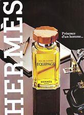 PUBLICITE ADVERTISING 034 1981 HERMES équipage   eau de toilette