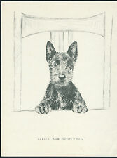 SCOTTISH TERRIER CHARMING VINTAGE 1930'S DOG ART PRINT by KF BARKER