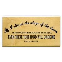 Wings of the Dawn..mounted rubber stamp, Christian bible verse, scripture  #6