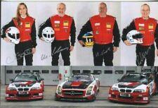Roland Eggimann & Michael, Martin and Chantal Kroll Autographed Photo Racing