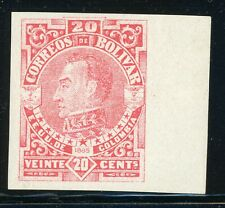 Colombia - BOLIVAR MH Selections: Scott #51VAR 20c Red IMPERF (1885) $$$