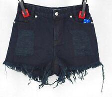 BUI-YAH-KAH High Waist Black Distressed Shorts Size 3