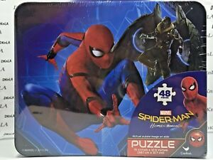 Marvel's Spiderman Lunch Box (Tin) with 48 Piece Puzzle inside - Brand New
