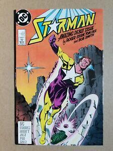 Starman #1 (1988 DC Comics) Singed Inside by artist Tom Lyle ~ Nice Copy FN