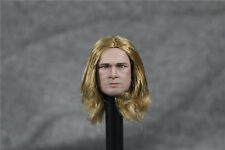 "CIAN 1:6 Brad Pitt Gold Hair Head Model For 12"" Male Figure"