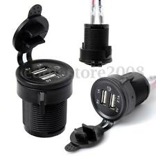 12V Dual USB Port Plug Car Cigarette Socket Lighter Socket Power Charger Adapter