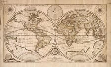 """old world map antique  art print vintage for glass frame 36"""" x 24"""" painting"""