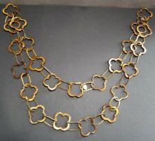 APPARTEMENT A LOUER Quatrefoil Necklace gold bronze tone statement peice