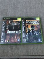 Original XBOX Game Rainbow Six 3 And Splinter Cell Pandora Tomorrow