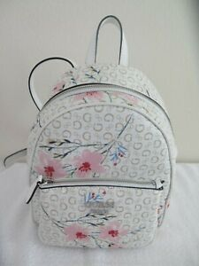 Guess PANDORE Backpack WHITE MULTI Floral Shoulder Bag OO672429 Purse