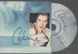 Celine Dion Because You Loved Me Cd Single Card Sleeve