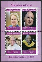 Madagascar 2019 MNH Nobel Prize Winners 2018 4v M/S Chemistry Physics Stamps