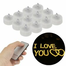 12PCS LED Flameless Flickering Christmas Tear Candle Tea Lights Remote Control