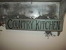 """Wood Sign COUNTRY KITCHEN Prim VTG """"Handmade"""" Rustic Distressed Aged Home Decor"""