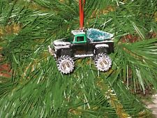 Jada 1956 Ford F-100 Pickup Green Custom Christmas Ornament w/tree,snow G