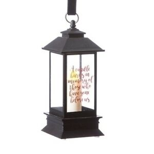 Loved One MEMORIAL LANTERN LED Christmas Ornament, by Roman