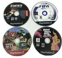 PlayStation 2 PS 2 Game Lot  ATV Offroad Fury Stuntman FIFA 2001 Grand Theft Vic