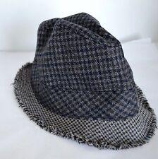 3a7551edc2b J. Crew Men S M Fedora Gray Plaid Tweed 100% Wool Hat Cap
