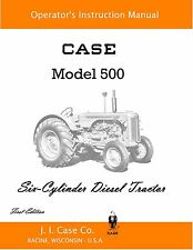 Case 500 Tractor Operator's Manual Reproduction
