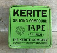 *Vintage Advertising Tin KERITE SPLICING COMPOUND TAPE  **EMPTY**