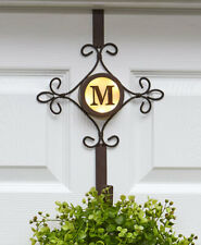 Lighted Monogram Wreath Hanger Front Door Porch Patio Home Décor