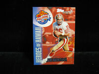 2000 Joe Montana San Francisco 49ers Topps Stars Pro Bowl Card  #142