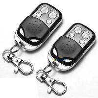 2 x Universal Cloning Remote Control Key Fob for Car Garage Door 433mhz #MCA