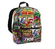 "MARVEL AVENGERS COMICS BACKPACK 16"" School Bag"