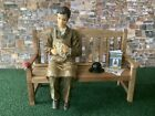 ACCESSORIES TO SUIT GARAGE/BARN & CAR MAN FIGURE SITTING ON A WOODEN BENCH  Z221