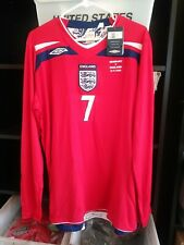 New Authentic Umbro 2008 England Beckham L/S Jersey vs Germany manchester United