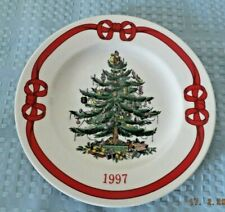 Spode Christmas Tree Plate Marked 1997